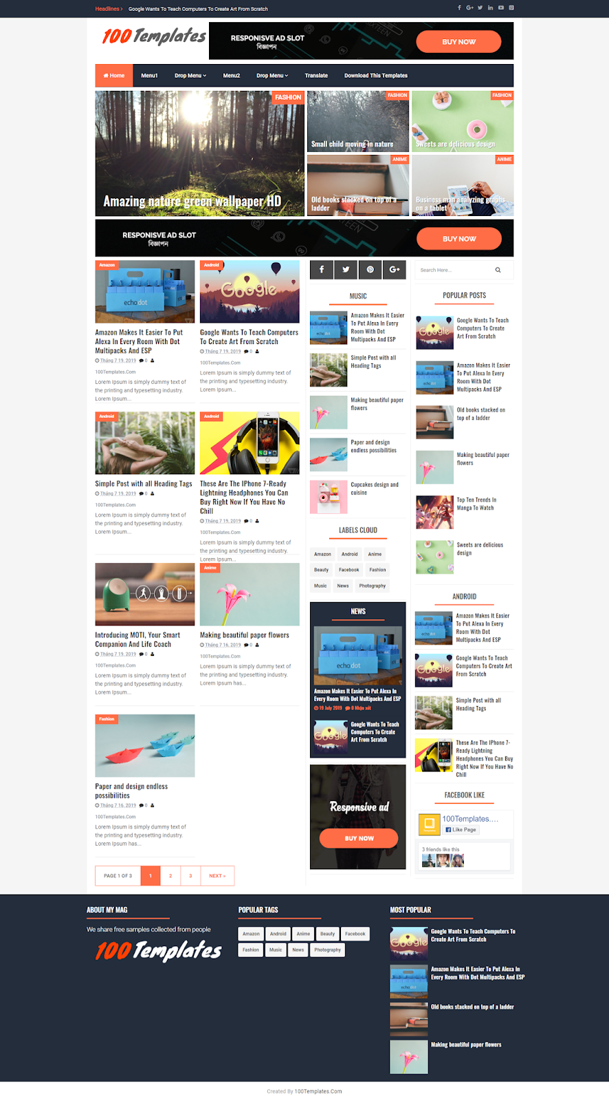 My Mag Blogger Templates Free Download