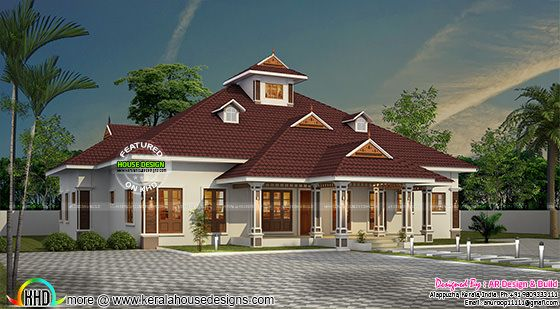 Kerala model home with dormer windows