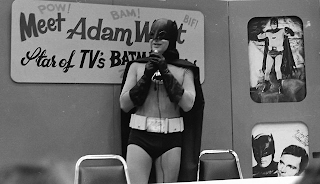 Adam West as Batman at a public appearance