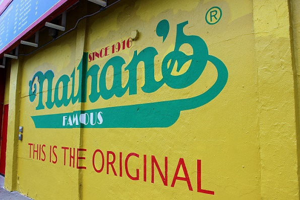 Nathan's sign Coney Island