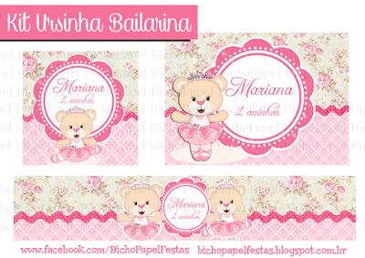 Kit Ursinha Bailarina