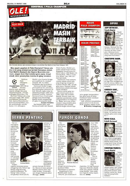 CHAPIONS LEAGUE 1998 SEMIFINAL REAL MADRID VS BORUSSIA DORTMUND