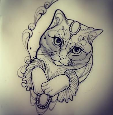 tattoo desenhos e muito mais gatos tattoo tatuagem ideias e desenhos. Black Bedroom Furniture Sets. Home Design Ideas
