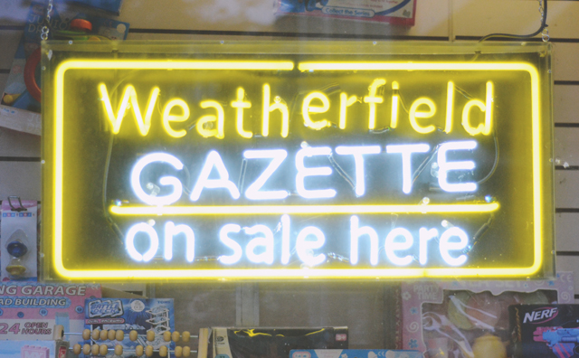 Weatherfield Gazette Neon Sign