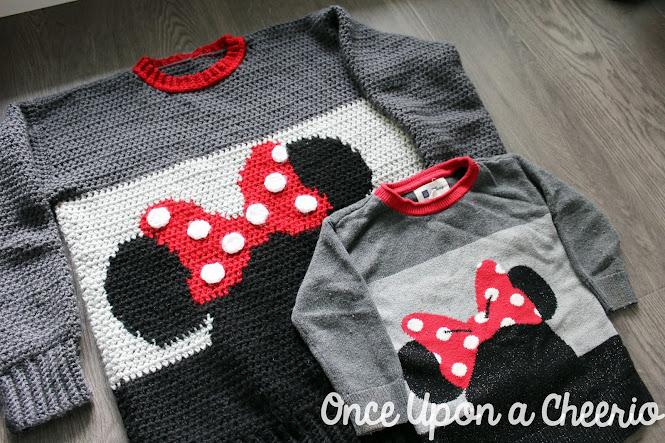 Minnie Mouse Sweater FREE Crochet Pattern