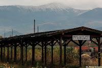 Mysłakowice koło Jeleniej Góry, Stacja PKP i widok na Śnieżkę