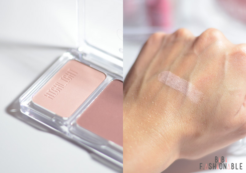 essence happy girls are pretty contouring set Highlight Detail Swatch