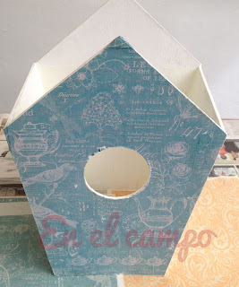 tuto nichoir cartonnage tutorial birdhouse cartonnage