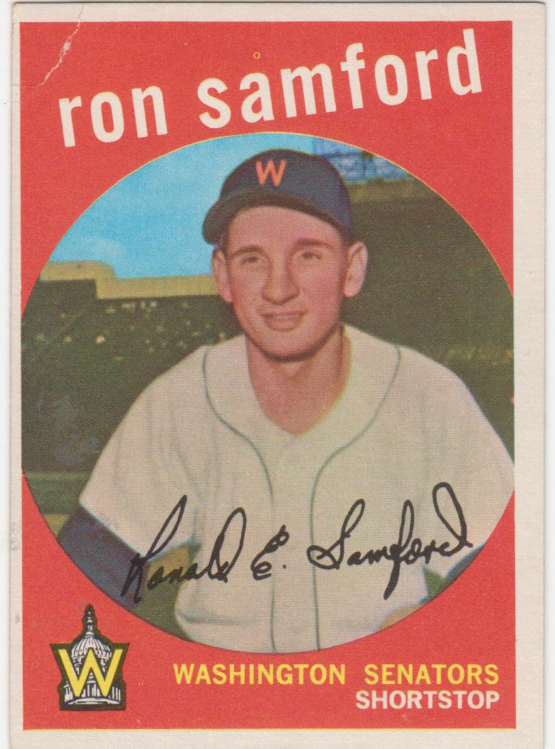 59 topps: one f/g card at a time: #242 Ron Samford