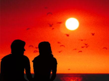 hình ảnh về tình yêu đẹp lãng mạn dễ thương, ngắm hoàng hôn