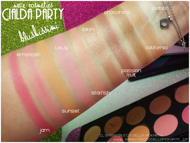 blushissimi swatches neve cosmetics cialda party review recensione makeup
