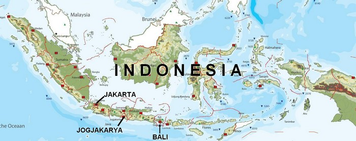 Map of Indonesia, Venue for the Miss World 2013