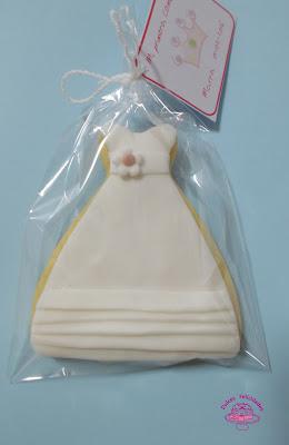 Galletas vestido de primera comunión