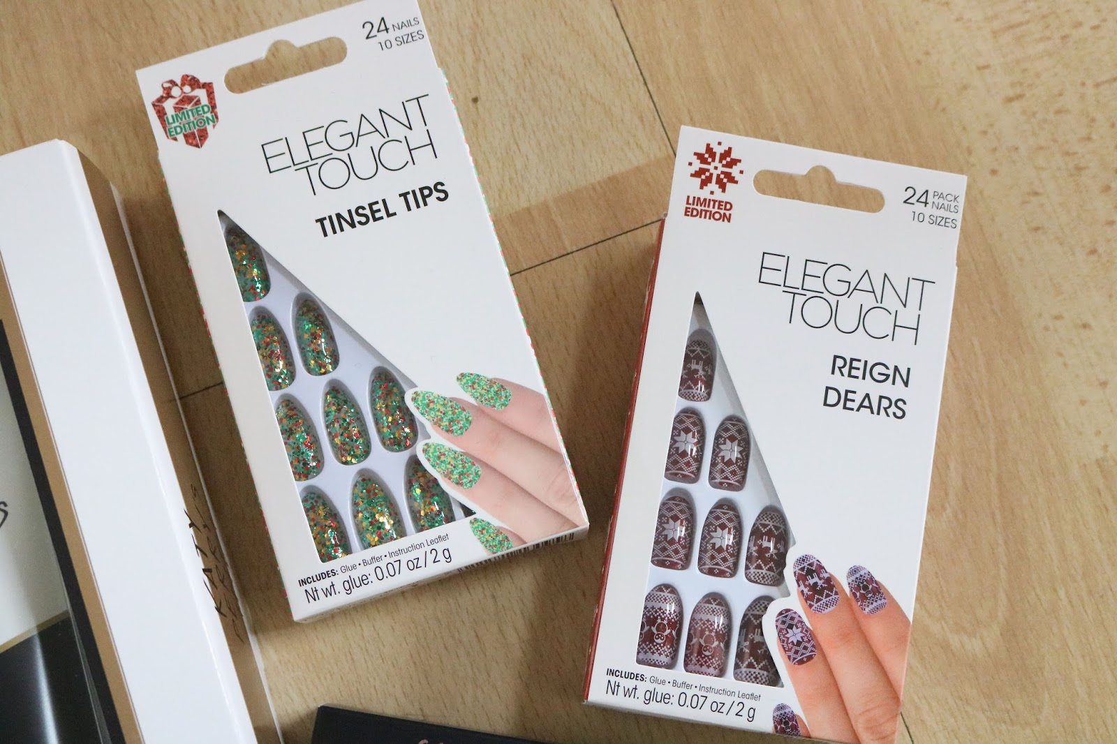 elegant touch tinsel tips and reign dear nails