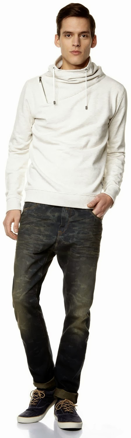 Celio Menswear Cotton Straight-Cut Jeans Camouflage Print Spring Summer Collection 2014