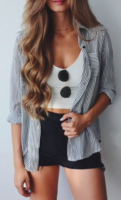 summer striped jacket