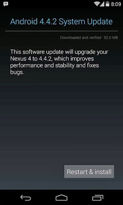 Android 4.4.2 Update for Nexus