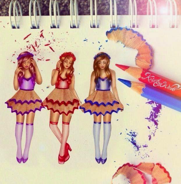 Pencil Shaving Art On Dress Projects Art Craft Ideas