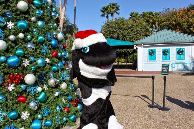 natal no Parque SeaWorld em Orlando- baleia