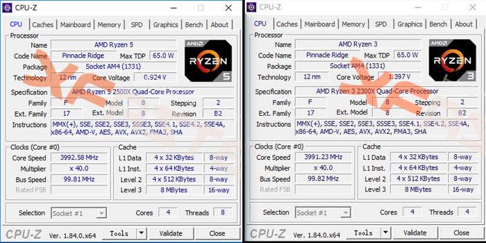 AMD RYZEN 3 2300X Dan Ryzen 5 2500X