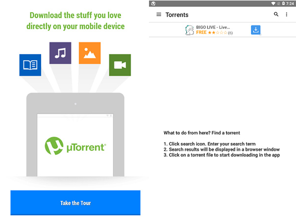 how to download torrent files in android tablet