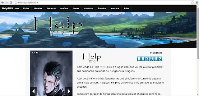 Primeira vez que a marca Help RPG aparece. Num site de layout novo e melhorado o site perpetua no ar até hoje. - novembro de 2013