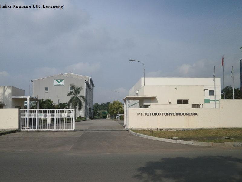 Loker PT.Totoku Toryo Indonesia Kawasan KIIC Karawang 2018