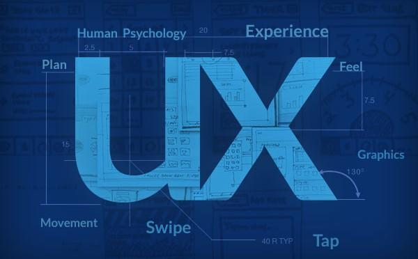 Logo diseño ux azul