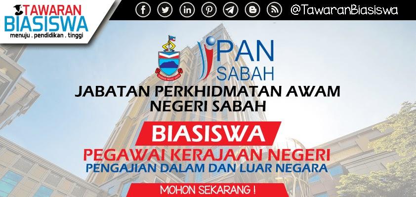 Permohonan Biasiswa Pegawai Kerajaan Negeri Sabah