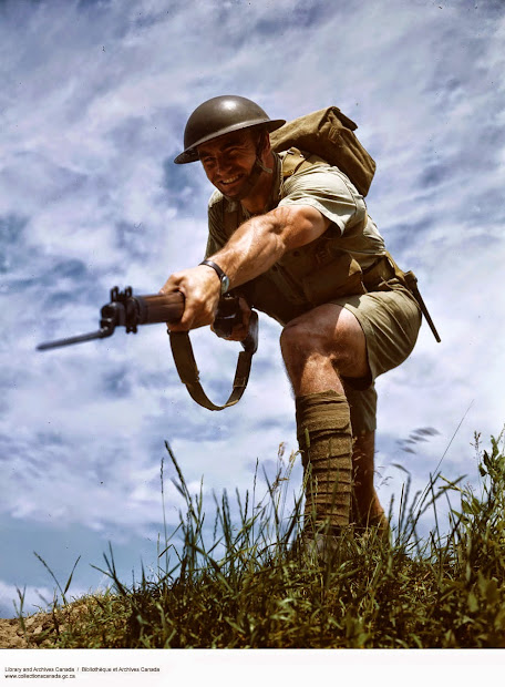 Rare And Wonderful Color Of Canadian Soldiers In