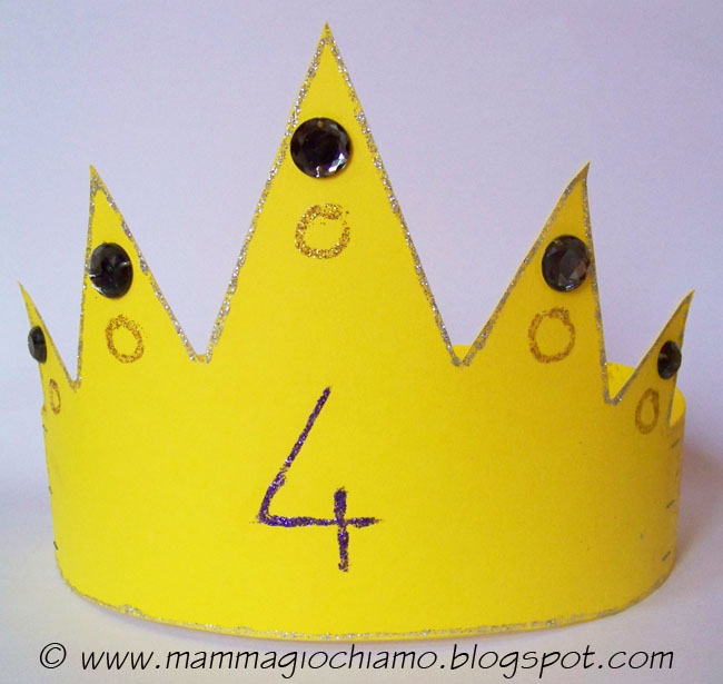 Eccezionale MammA GiochiaMo?: Festa di compleanno: la corona di carta fai da te RL99