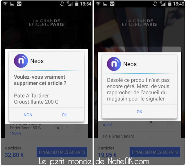 NEOS l'application shopping sans passer en caisse