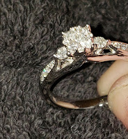 Diamond engagement ring close up