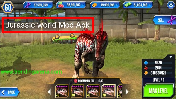 Jurassic World The Game Mod Apk Pro Crack Hack Apk