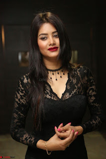 Actress Monica in spicy transparent Black Top at O Pilla Nee Valla Movie Audio Launch Feb 2017 023.JPG