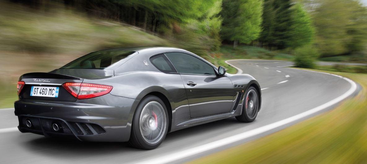 Bagagliaio Maserati Gran Turismo: capacità volumetrica in litri