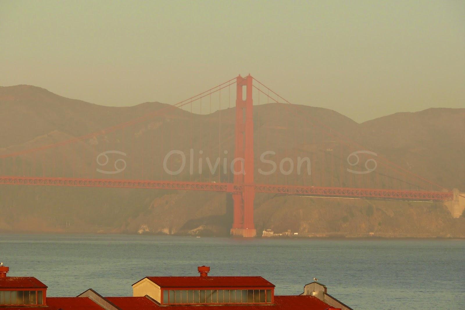 sunset golden gate bridge san francisco, californie, usa