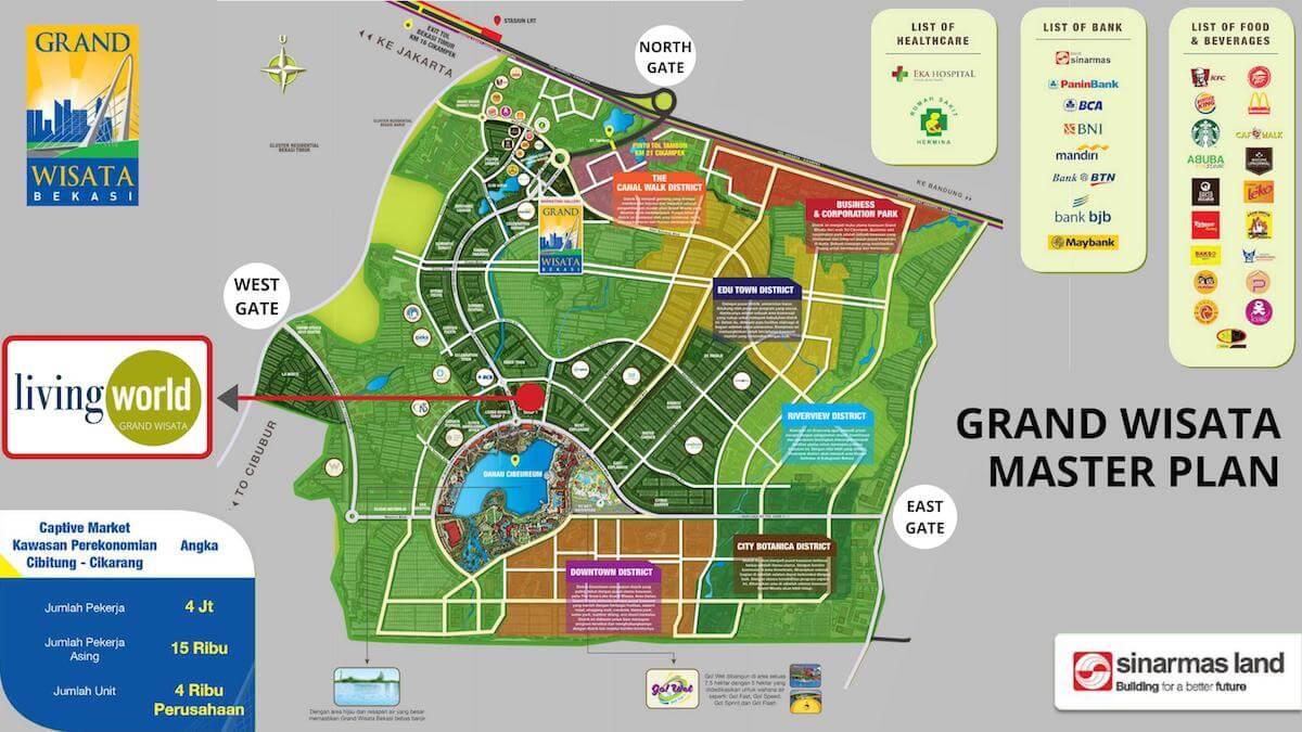 Master Plan Grand Wisata Bekasi