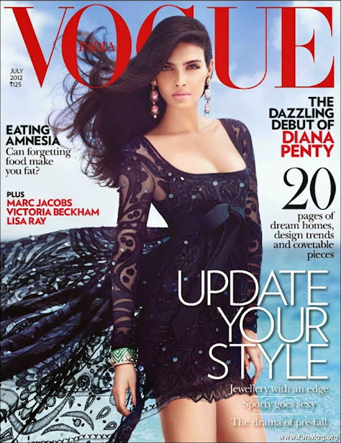 Diana Penty on Vogue Magazine Cover