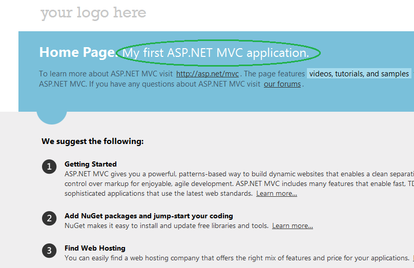 Creating a View in Asp.Net MVC