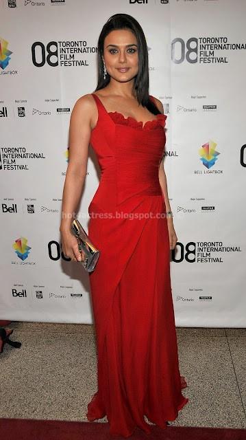 PREITY ZINTA IN RED DRESS PHOTO