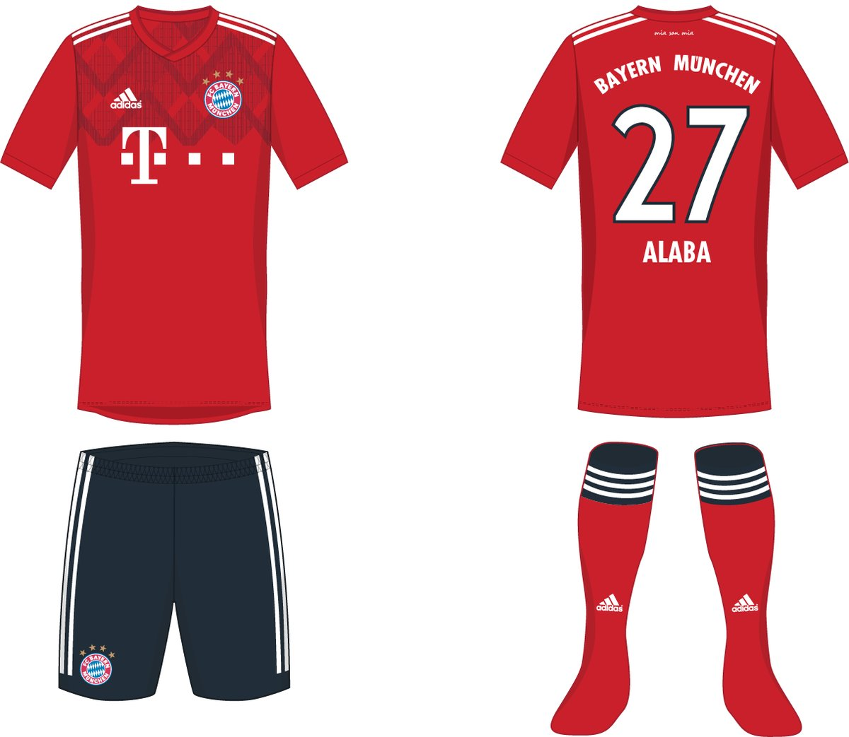promo code a74d5 3b892 Navy Shorts - Here is How Bayern München's 18-19 Kits Could ...