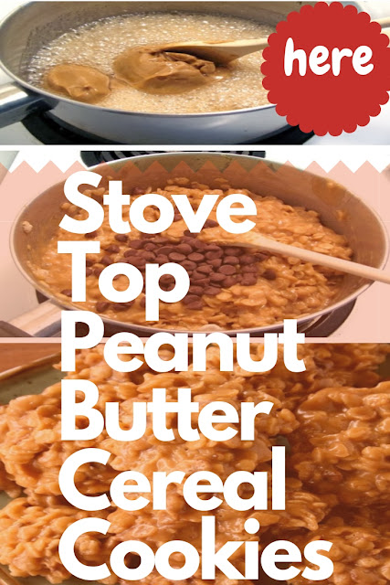 Stove Top Peanut Butter Cereal Cookies (No-Bake)