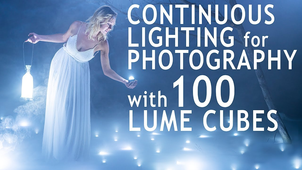 Continuous Lighting for Photography Using 100 Lume Cubes
