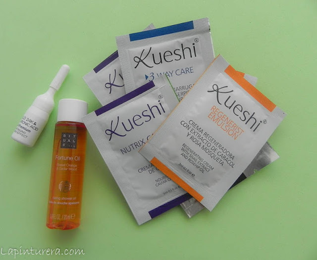 muestras Kueshi y más.