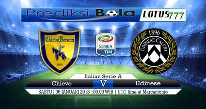 prediksi skor Chievo vs Udinese 06 januari 2018
