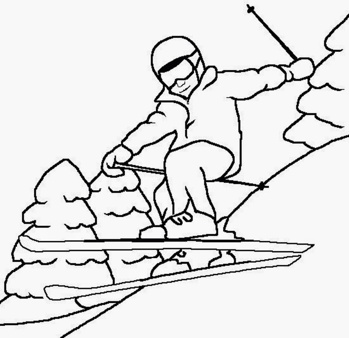 Coloring pages winter coloring pages and clip art free for Winter time coloring pages