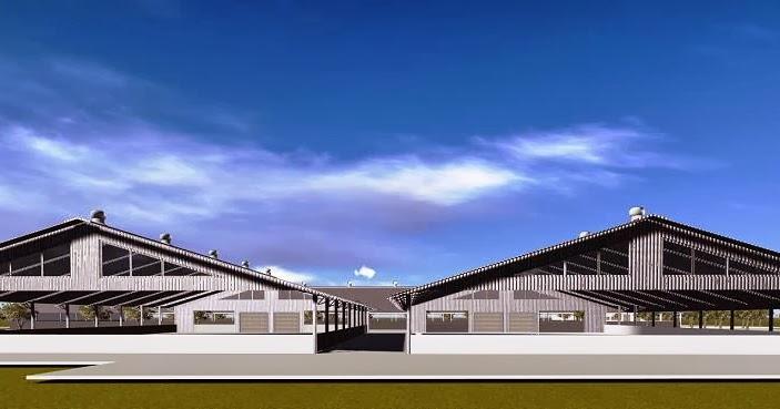 Desain Bangun  Renovasi Gudang Pabrik Kembar Full