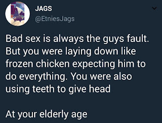 Male Twitter user calls out ladies who give head