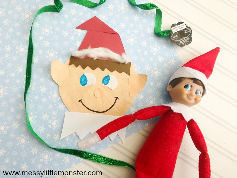 Elf on the shelf elf craft. Easy Christmas crafts for kids.